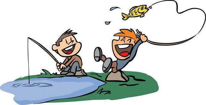 Карикатура на рыбаков