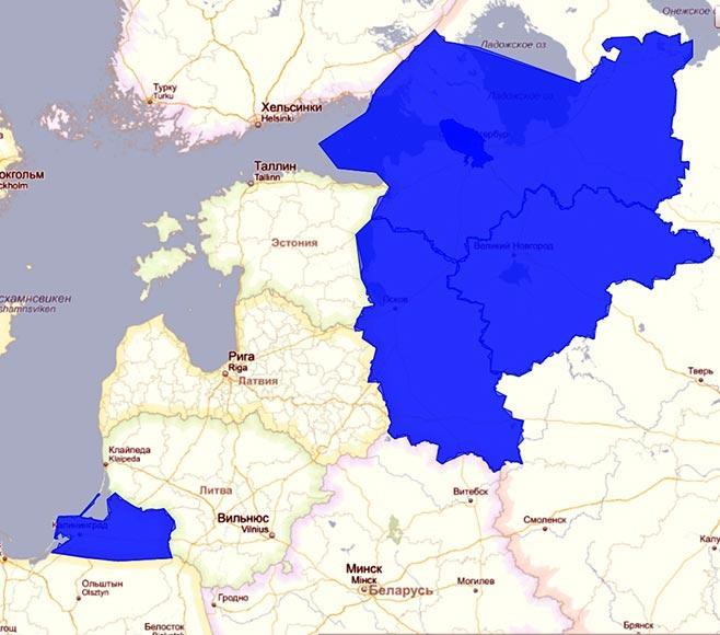 Карта-Западный рыбохозяйственный бассейн