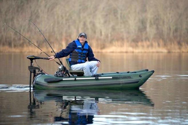рыболов на лодке