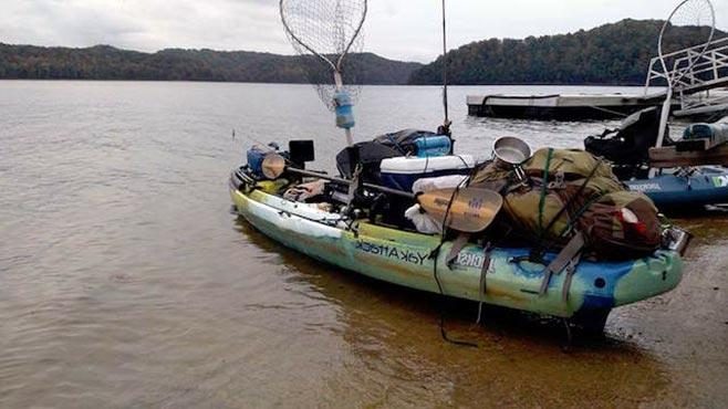 Загруженная лодка