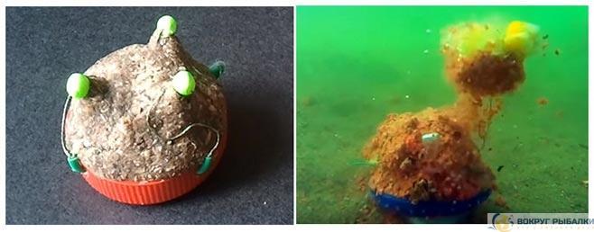 Работа донки соски под водой