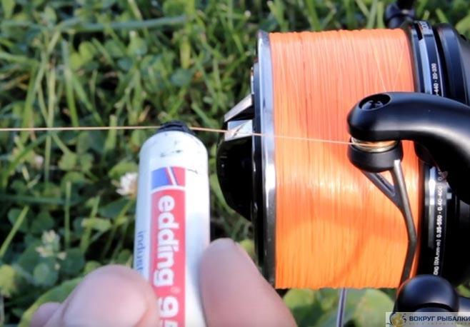 маркерование лески фломастером