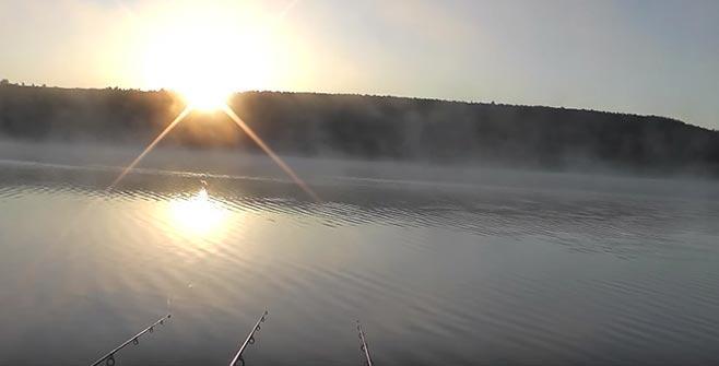 рыбалка на восходе солнца