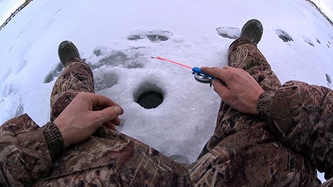 техника ловли окуня на безмотылку