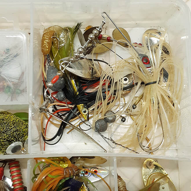 Спиннербейты в ящике рыболова